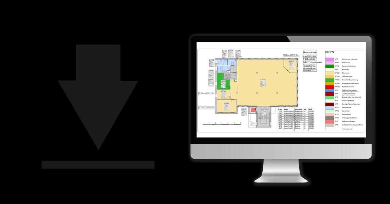 Illustration für Testversion von Vectorworks als CAFM-Software für Facility Management